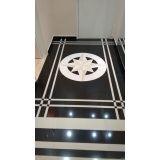 piso de mármore preto na Portão